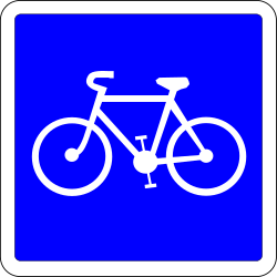 Lane for cyclists - Road Sign