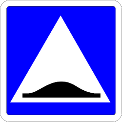 Speed bump - Road Sign