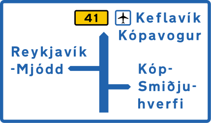 Information about the destination of the ramp - Road Sign