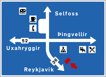 Information about the directions of the crossroad - Road Sign