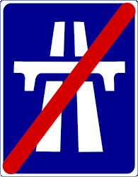 Motorway Ends - Road Sign