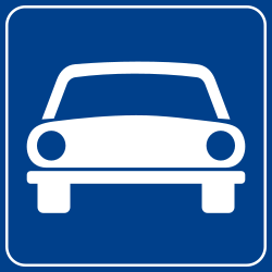 Begin of an expressway - Road Sign