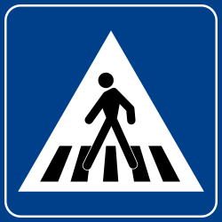 Pedestrian crossing - People can cross - Road Sign