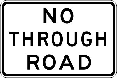 Road ahead is a dead end - Road Sign