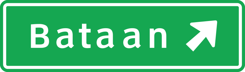 Information about the next exit - Road Sign