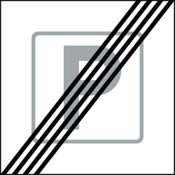 End of the parking zone - Road Sign