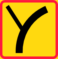 Road bends ahead - Road Sign
