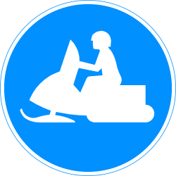 Mandatory path for snowmobiles - Road Sign