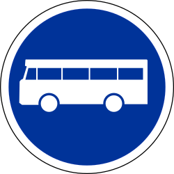 Mandatory lane for buses - Road Sign
