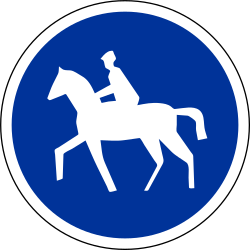Mandatory path for equestrians - Road Sign