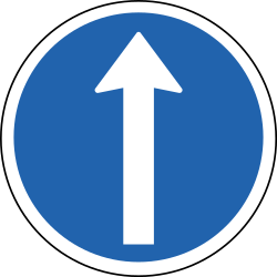Ahead Only - Road Sign