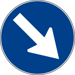 Pass on right only - Road Sign
