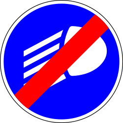 Mandatory lights off - Road Sign