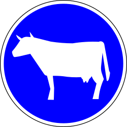 Mandatory path for cattle - Road Sign