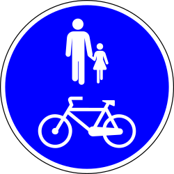 Mandatory shared path for pedestrians and cyclists - Road Sign