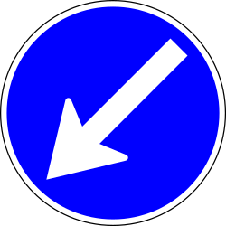 Passing left compulsory - Road Sign