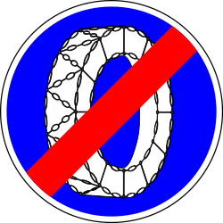 Removing snow chains mandatory - Road Sign