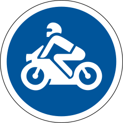 Mandatory path for motorcycles - Road Sign