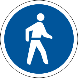 Pedestrians move use mandatory path - Road Sign