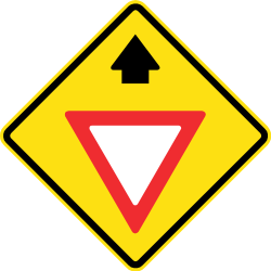 Give way ahead - Road Sign