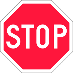 Stop and give way to all traffic - Road Sign