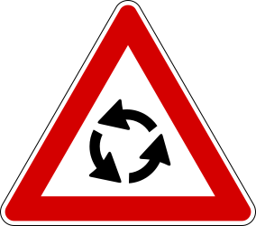 Roundabaout ahead - Road Sign