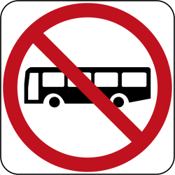 Buses prohibited - Road Sign