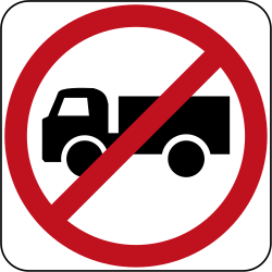Lorries - Trucks forbidden - Road Sign