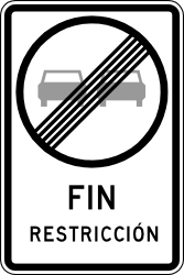 End of the overtaking prohibition - Road Sign