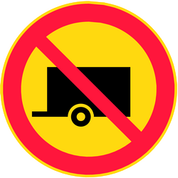 Trailers prohibited - Road Sign