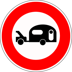 Caravans prohibited - Road Sign