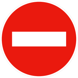 No entry (one-way traffic) - Road Sign