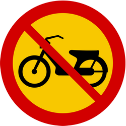 Mopeds prohibited - Road Sign