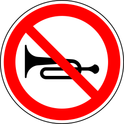 Using the horn prohibited - Road Sign