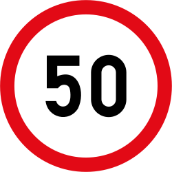 Speed limit - Road Sign