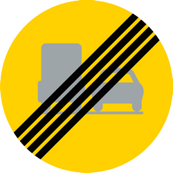 End of the overtaking prohibition for trucks - Road Sign