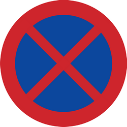 Stopping and parking forbidden - Road Sign