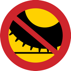 Studded tires prohibited - Road Sign