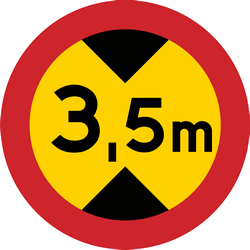 Height restriction ahead - Road Sign