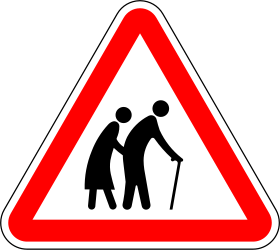 Warning for elderly - Road Sign