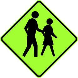 Warning for pedestrians - Road Sign