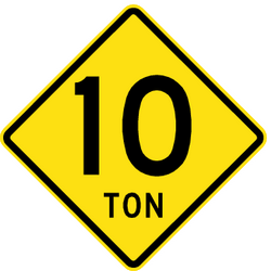 Warning for a limited weight - Road Sign