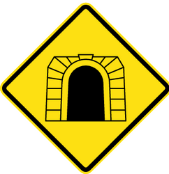 Warning for a tunnel - Road Sign