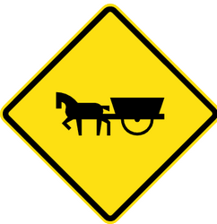 Warning for horse carts - Road Sign