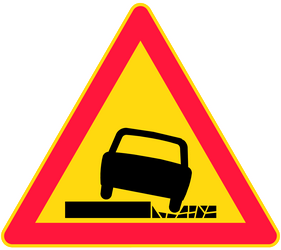 Warning for a soft verge - Road Sign