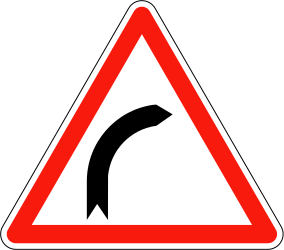 Road bends to the right - Road Sign
