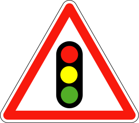 Traffic light ahead - Road Sign