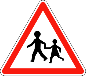 Warning for children and minors - Road Sign