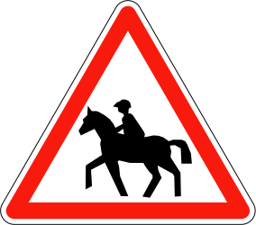 Warning for equestrians - Road Sign