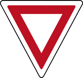 Give way to all traffic - Road Sign